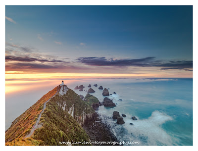 Sunrise, Nugget Point, Lighthouse, Southland