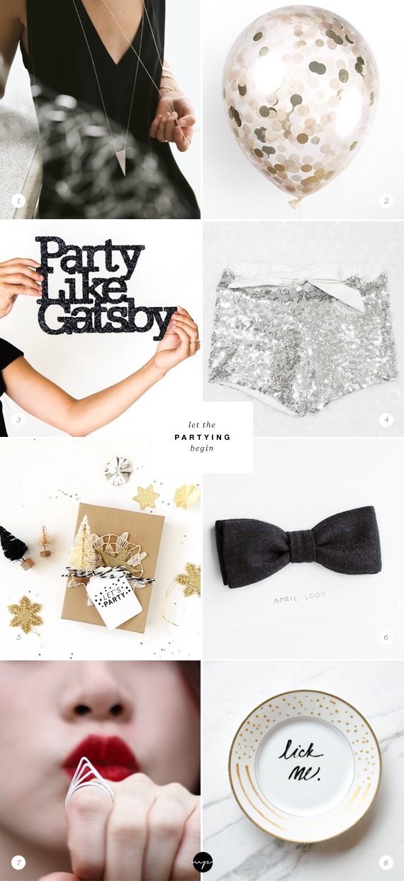 Let the partying begin | My Paradissi on Etsy
