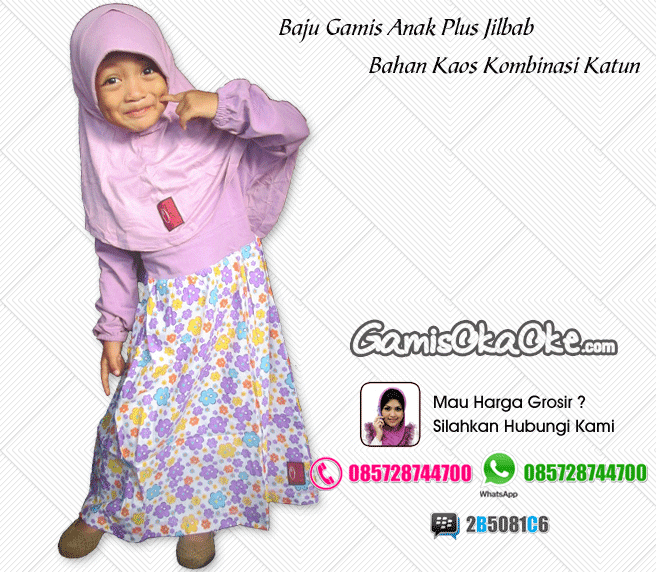 Gamis Anak Oka Oke Plus Jilbab Terbaru - Baju Gamis Anak ...