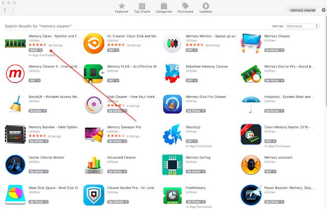 Mengoptimalkan RAM MAC OS X dengan Memory Clean