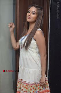 Anu Emmanuel in Beautiful White Long Dress at At Kittu Unnadu Jagratha Movie Interview