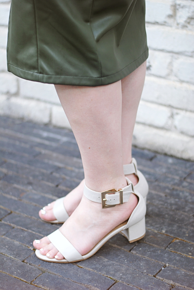asos low heel nude strap sandals