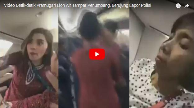 Astaga Video Detik-detik Pramugari Lion Air Tampar Penumpang, Berujung Lapor Polisi