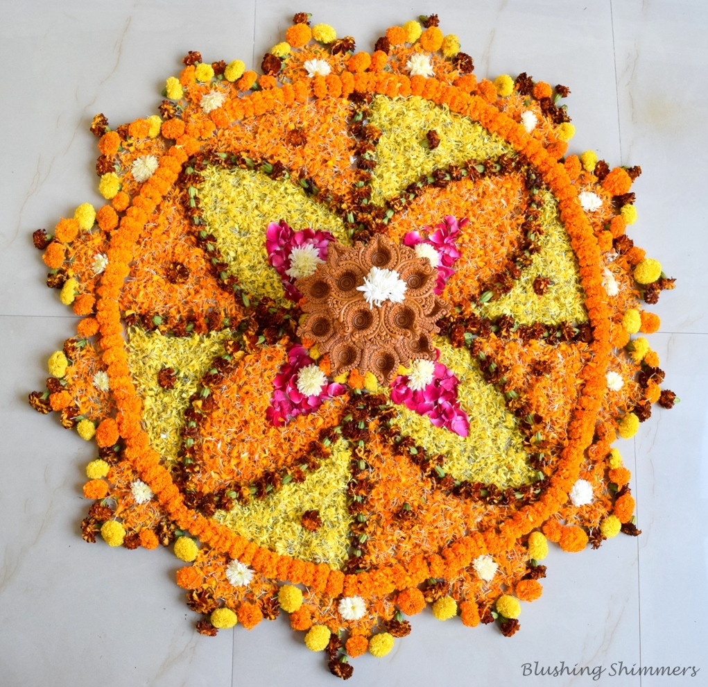 best Flower Rangoli design diwali
