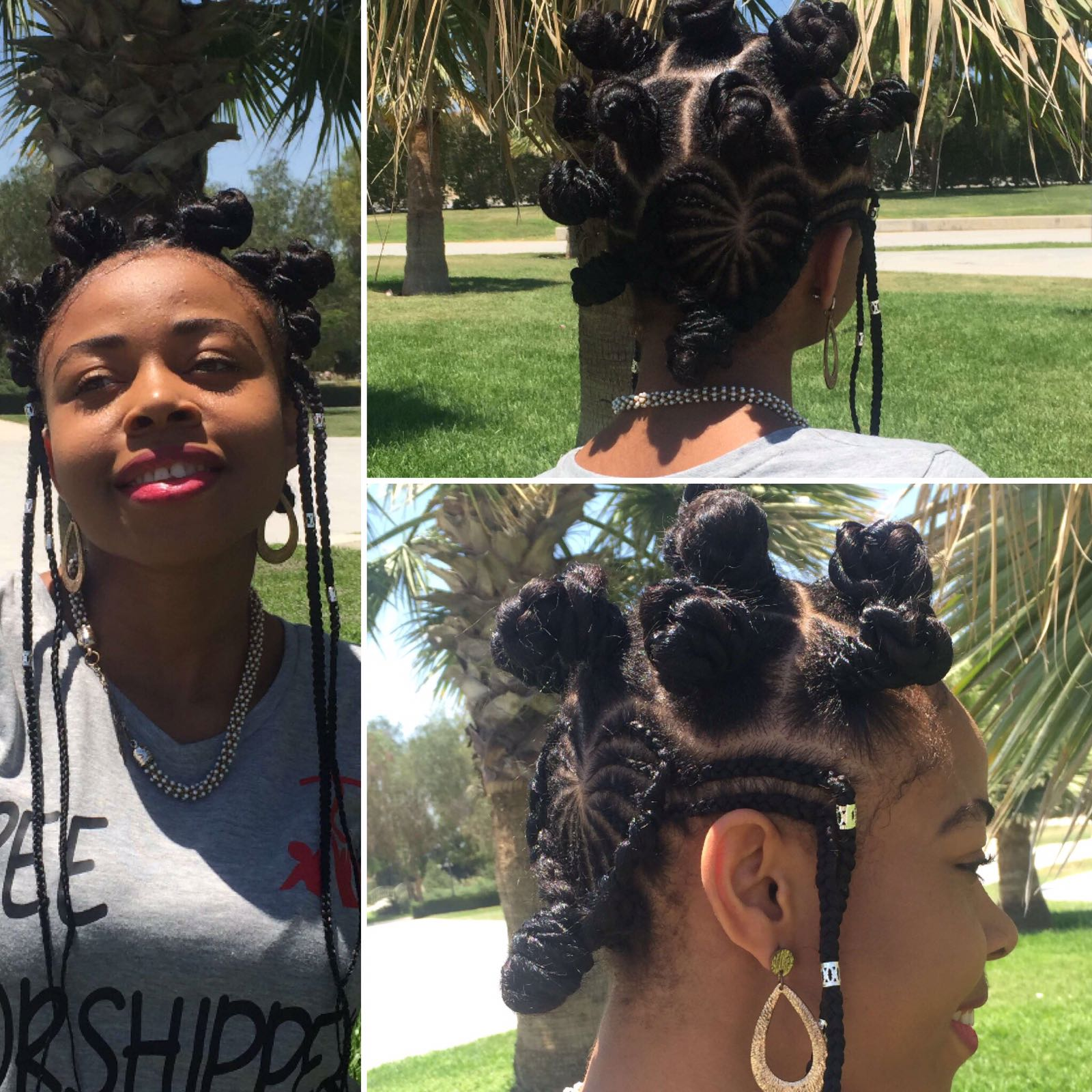 Best Summer Hairstyles  bantu knots