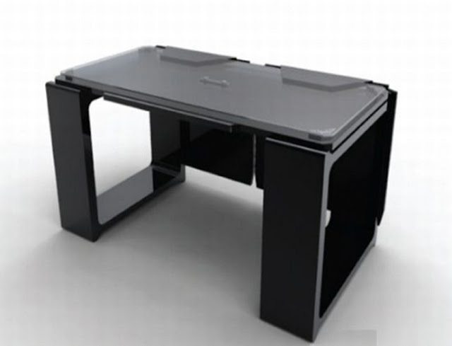 best buy modern home office computer desk black and gray for sale