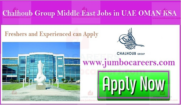 Latset job openings in Middle east, Show the job vacancy in  Gulf countries,