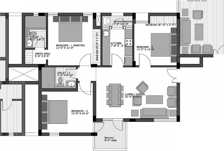 Apartment townhouse plans modern home design ideas for Apartment townhouse plans