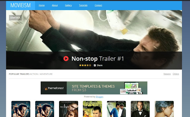 Movieism 100% Pure Responsive Template