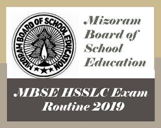 Mizoram HSSLC Routine 2019, Mizoram 12th Routine 2019, Mizoram HSSLC Time table 2019, Mizoram 12th Time table 2019