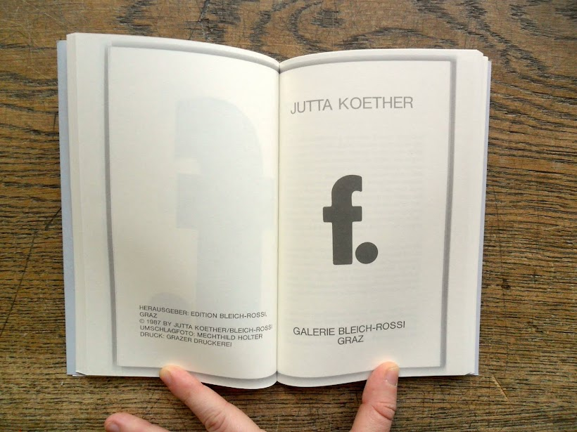 Jutta Koether, f., Sternbergpress, 2015
