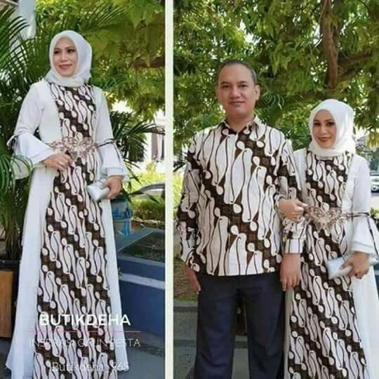 Gamis batik couple (Sumber:Pinterest)