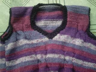 0b45c8d3f ATELIÊ ALDINÉIA ALMEIDA: Colete de tricô (Encomenda Cris)