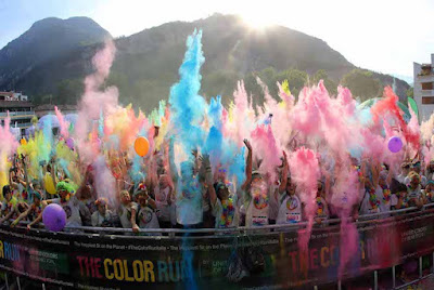 Color run trento - Color blast © Ansa
