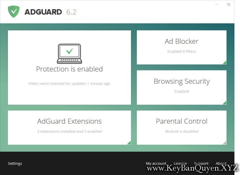 Adguard 6.4.1814.4903 Full Key, Phần mềm chặn quảng cáo trên Internet số 1 thế giới.