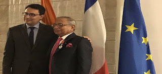 Jawahar Lal Sarin presented with France's highest civilian honour