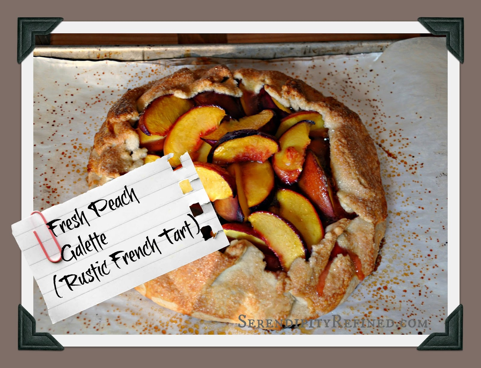 Fresh Peach Galette Simple Rustic French Tart