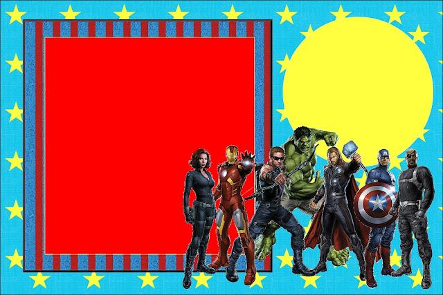 Os Vingadores Kit Completo Com Molduras Para Convites Rótulos