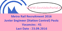 Metro Rail Recruitment 2016
