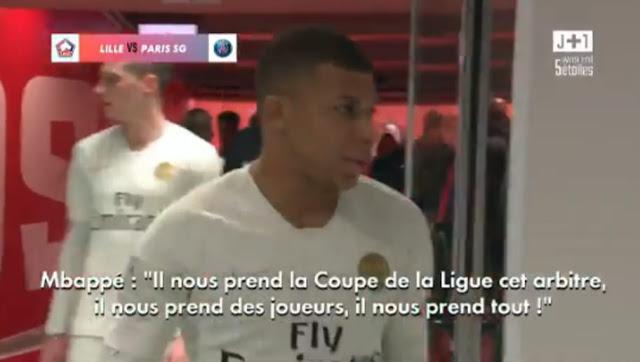 La vidéo incroyable montrant les parisiens pleurer sur l'arbitrage de Lille-PSG