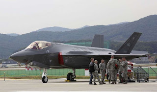 The nuclear war on ground: North Korea says 'a nuclear war may break out any moment' AM A U.S. F-35 stealth fighter is seen during the press day of the 2017 Seoul International