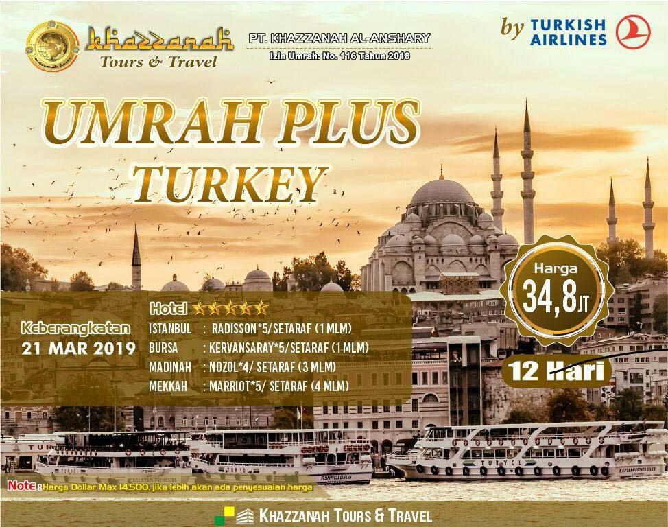 Biaya Umroh Plus Turki 2019
