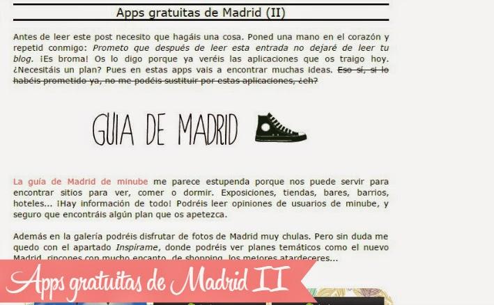 Apps sobre Madrid