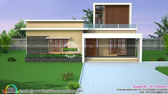 Contemporary box model 3 bedroom house