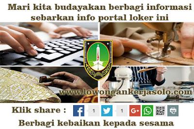 info Lowongan kerja pelatihan dan pemagangan DINSOSNAKERTRAN Surakarta februari 2016