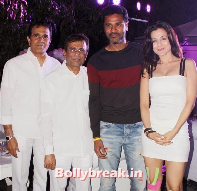 Abbas Mastan, Prabhu Deva and Amisha Patel, Hot Amisha Patel in White Dress at Desi Magic Poster Launch