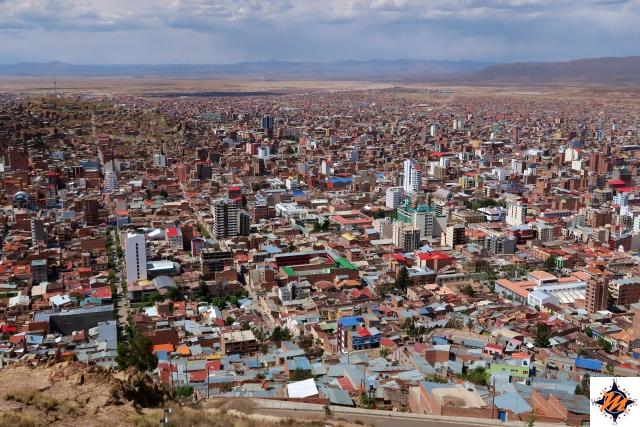 Oruro, vista dal mirador de la Virgen del Socavon