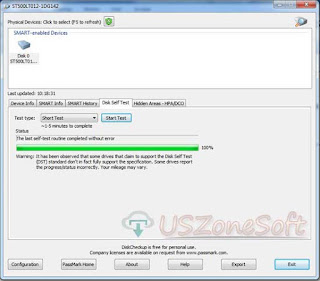 DiskCheckup hard disk self tester software
