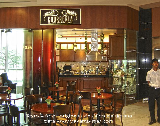"Churrería ""Spanish Chocolatería"" en Yakarta"