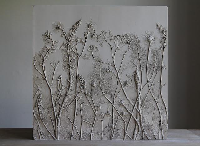 Rachel Dein, Tactile Studio, Plaster Cast, Plaster Tile, Botanical Art