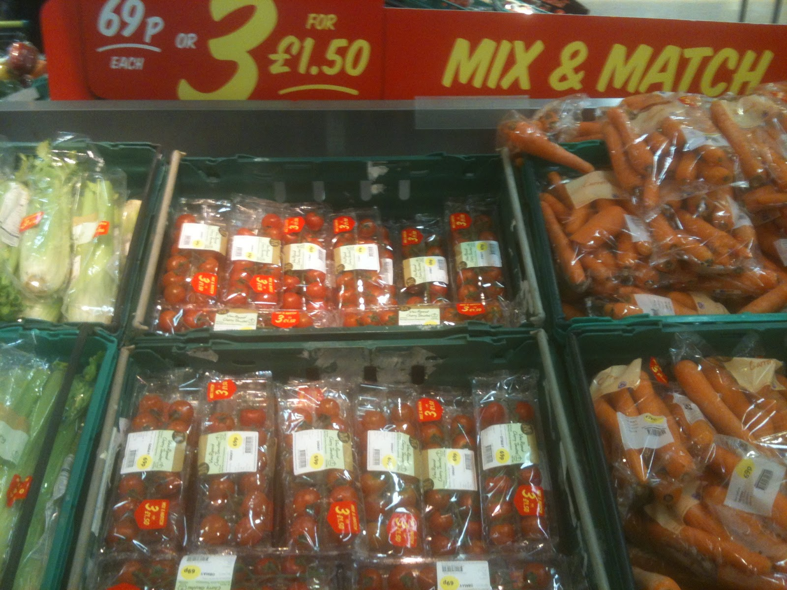 69p and 3 for £1.50 offers in fruit and veg at Morrisons
