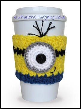 Free Crochet Minion Cup Cozy Pattern