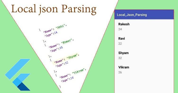 Flutter - Parse local JSON file in Flutter  ~ Developer Libs