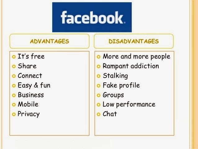 the advantages and disadvantages of facebook