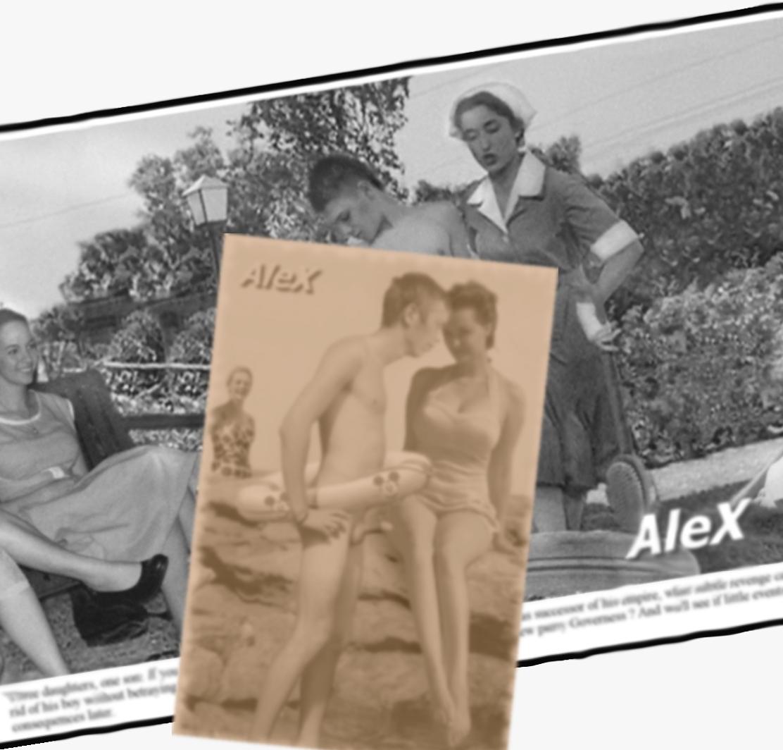 cfnm vintage mixed swimming