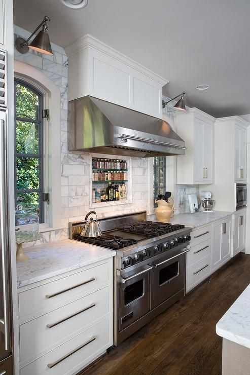 Kitchen Hoods Stainless Steel ~ Decorated mantel inspiring kitchen of the week