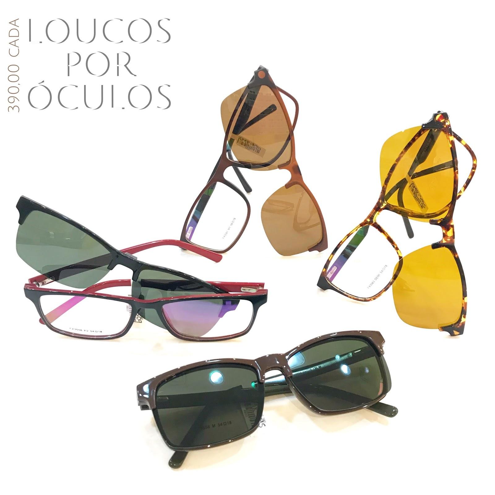 322b9dd7a3b2d Loucos por Óculos  Óculos com Clipon 3 em 1