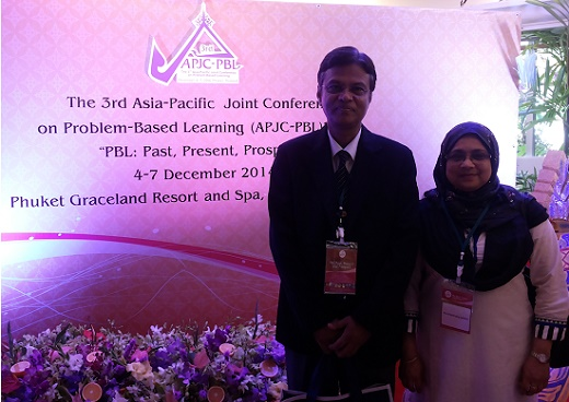At the 3rd APJC-PBL-2014 with My Wife, Thailand