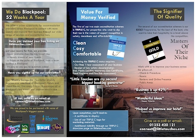Blackpool Hotel Support - Travel Site, Newsletter, Tickets, Accreditation