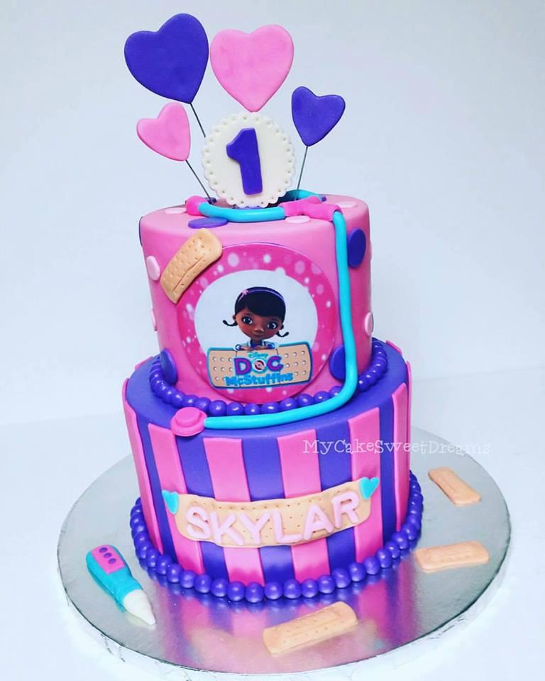 Groovy Cakesbyzana Doc Mcstuffins 1St Birthday Cake Funny Birthday Cards Online Inifodamsfinfo