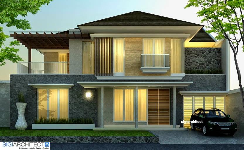 desain rumah minimlais tropis 1