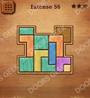 Cheats, Solutions, Walkthrough for Wood Block Puzzle Intense Level 56