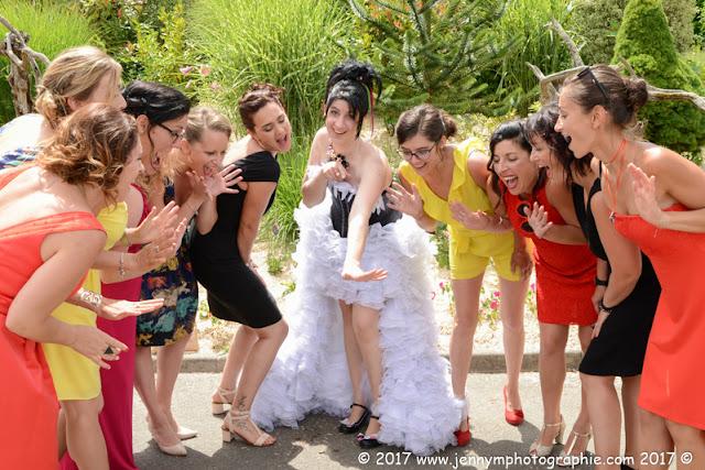 photos fun de groupes mariage la mariée et ses amies