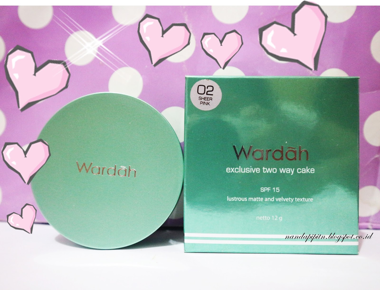 REVIEW Bedak WARDAH Exclusive Two Way Cake No 02 Sheer Pink