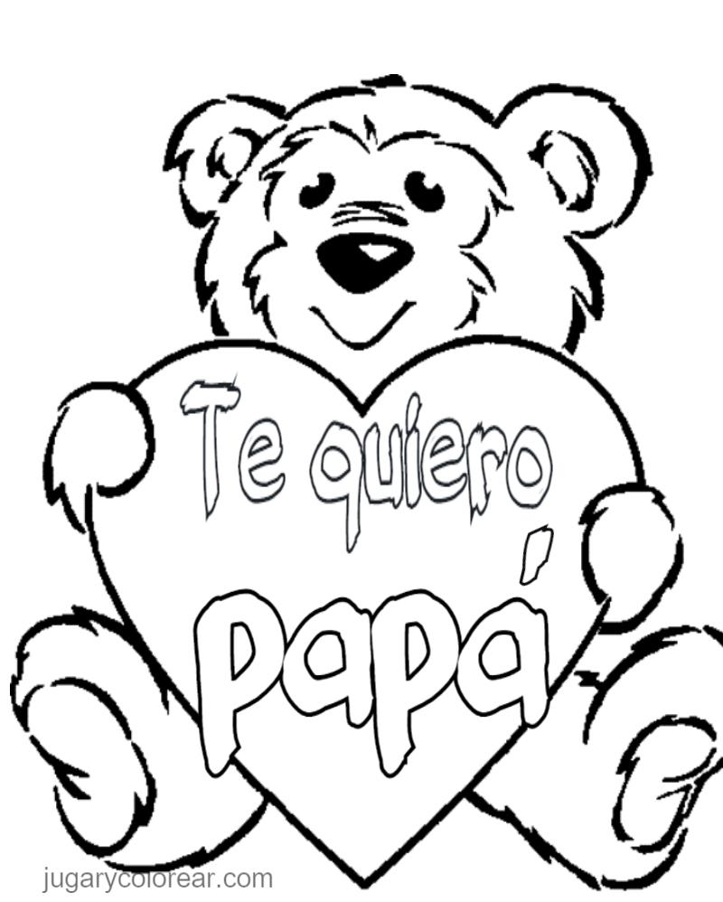 Encantador Te Quiero Papi Para Colorear Elaboración - Ideas Para ...