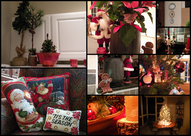 Santa Christmas vignette at Chickadee Home Nest